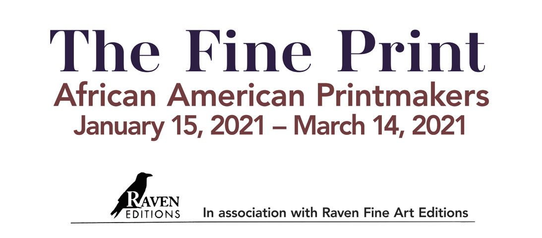 Logo for The Fine Print exhibition
