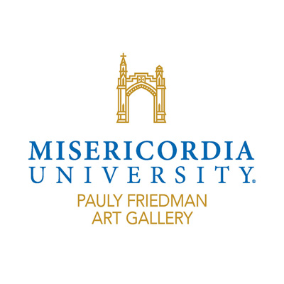 logo for art gallery with Misericordia arch icon
